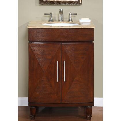 Silkroad Exclusive Cambridge HYP0220TUWC26 Sink Vanity Brown, 1