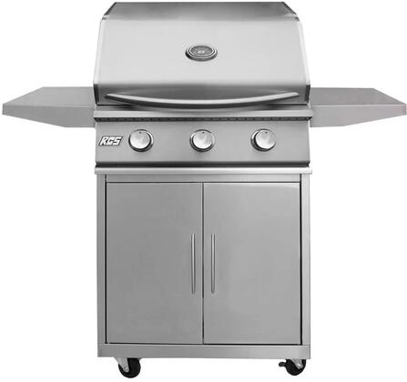 26″ Freestanding Premier Natural Gas Grill with Cart  Stainless Steel Gas Burners and Electronic Sure-Strike Ignition  Up to 36000