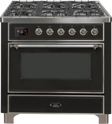 UM09FDNS3MGC 36″ Majestic II Series Dual Fuel Natural Gas Range with 6 Burners and Griddle  3.5 cu. ft. Oven Capacity  TFT Oven Control Display