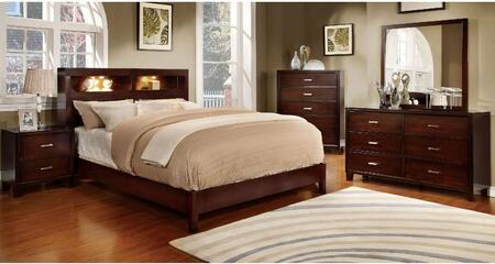 Furniture of America Gerico I CM7290CHQBDMCN Bedroom Set Brown, Main Image