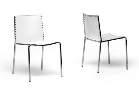 Wholesale Interiors DC12WHITE Dining Room Chair, DC 12
