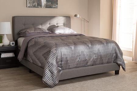 Baxton Studio Audrey CF8747MLIGHTGREYQUEEN Bed Gray, 8236 8237 8238 6