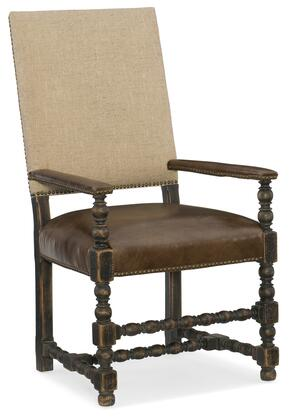 Hooker Furniture Hill Country 596075400BLK Dining Room Chair Brown, Silo Image