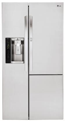 LG LSXS26366S Side-By-Side Refrigerator Stainless Steel, Main View