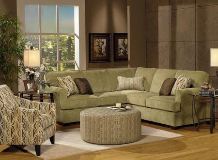 Jackson Furniture  433272 Sectional Sofa Green, 1