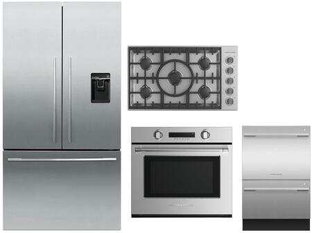 Fisher Paykel  736433 Kitchen Appliance Package Stainless Steel, main image