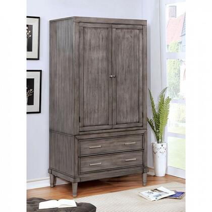 Daphne CM7556AR-SET Armoire with Transitional Style Solid Wood Wood Veneer in