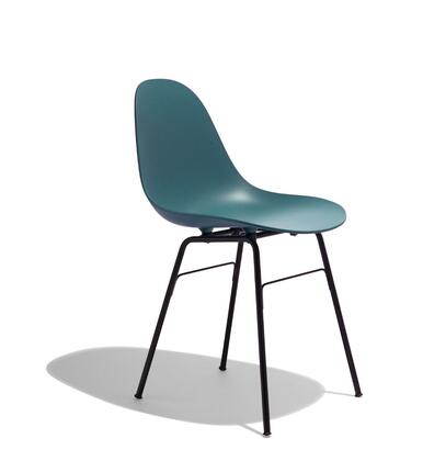 TA Collection TO-1711OB-1502B Upholstered Side Chair/Er Base Black Powder Coated/Ocean Blue