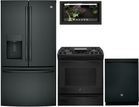 GE 1077371 Kitchen Appliance Package & Bundle Black, main image