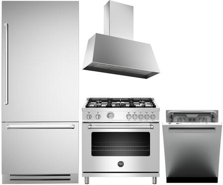 Bertazzoni  1394563 Kitchen Appliance Package Stainless Steel, Main image
