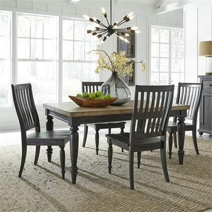 Liberty Furniture Harvest Home 879DR5RLS Dining Room Set Brown, 879 dr 5rls Main