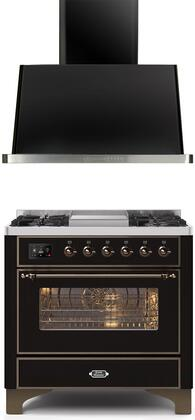 Ilve  1260299 Kitchen Appliance Package Black, Main Image