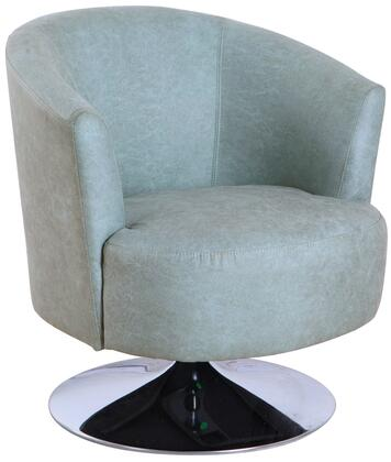Tustin Leisure Collection TUSTIN212015 Accent Chair with 360 Degree Swivel  Wing Arms  Memory Foam Seating  All Steel Construction and Quality Fabric