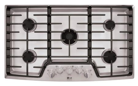 LG Studio LSCG366ST Gas Cooktop Stainless Steel, Main View