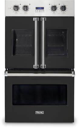 Viking 7 Series VDOF7301BK Double Wall Oven Black, Front view