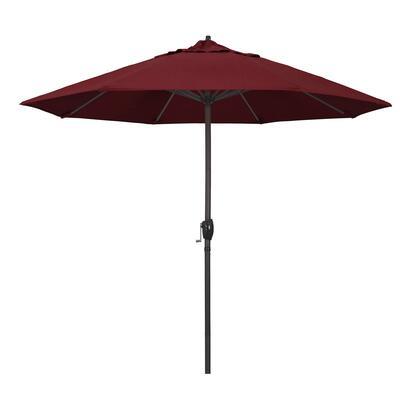 Casa Collection ATA908117-56095 9′ Patio Umbrella With Bronze Aluminum Pole Aluminum Ribs Auto Tilt Crank Lift With Sunbrella 2A Astoria Sunset