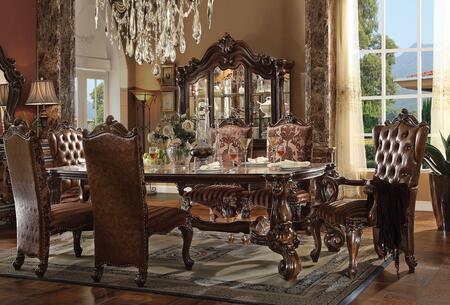 Acme Furniture Versailles 611108TCCB Dining Room Set Brown, 8 PC Set