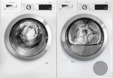 Bosch 800 Series 1329650 Washer & Dryer Set White, 1