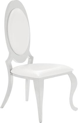 Coaster  107872N Dining Room Chair White, Angle View