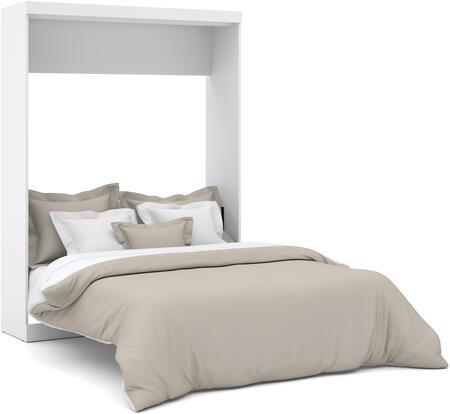 Bestar Furniture Nebula 2518417 Bed White, Wall Bed
