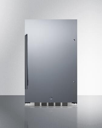Summit  FF195H34 Compact Refrigerator Stainless Steel, FF195H34 Compact Refrigerator