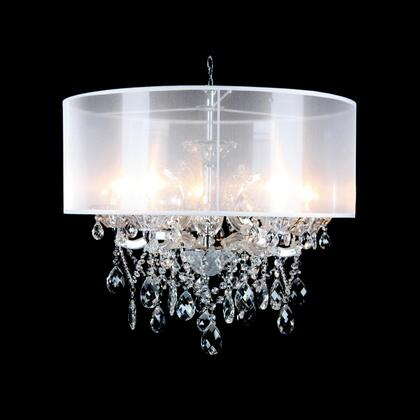 10423-C-S 5-Light Chandelier with Metal and Crystal Materials and 40 Watts in Clear