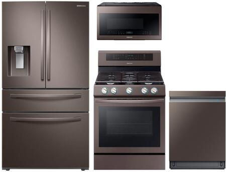 Samsung  1115066 Kitchen Appliance Package Tuscan Stainless Steel, main image