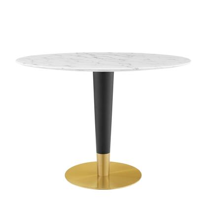 Modway Zinque EEI5125GLDWHI Dining Room Table White, EEI 5125 GLD WHI 1