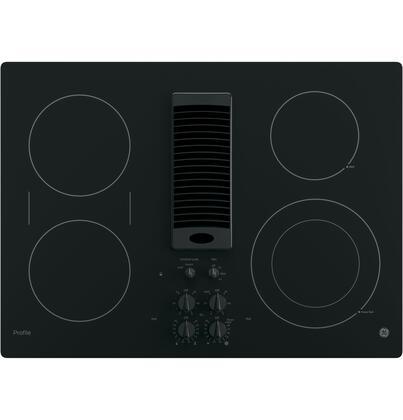 GE Profile  PP9830DJBB Electric Cooktop Black, Main Image