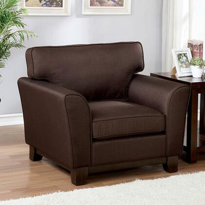 Furniture of America Caldicot CM6954BRCH Living Room Chair Brown, cm6954br ch 1
