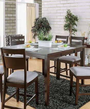 Furniture of America Joinville II CM3985PT Dining Room Table Brown, main image