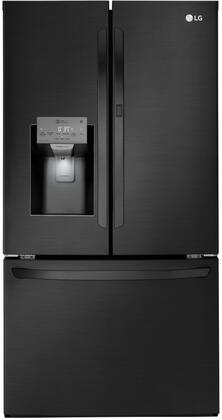 LG  LFXS28566M French Door Refrigerator Black Stainless Steel, Main Image