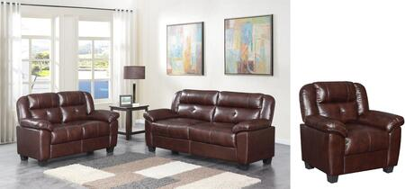 U17016-SLAC-B 3 Piece Living Room Set with Sofa  Loveseat  Arm Chair in