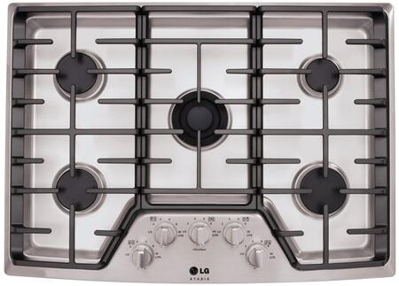 LG Studio  LSCG306ST Gas Cooktop Stainless Steel, Main View