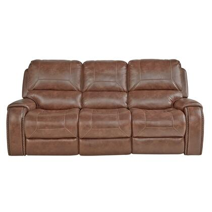 A498-401-654 Dual Recliner Sofa with Dropdown Charging Console in Mesquite