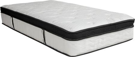 CL-BT33PM-R12M-T-GG Capri Comfortable Sleep 12 Inch Memory Foam and Pocket Spring Mattress  Twin in a