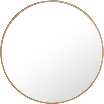 MR4032BR Metal Frame Round Mirror 24″ Brass