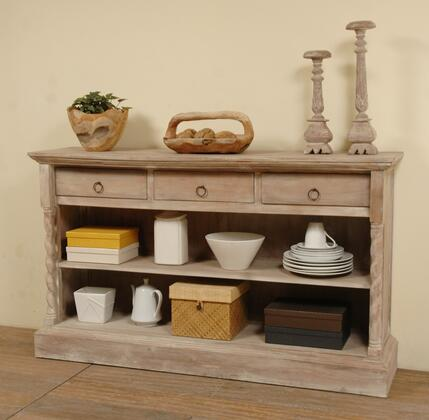Sunset Trading Shabby Chic Cottage CCCAB2235SLW Dining Room Buffet Gray, CC CAB2235S LW
