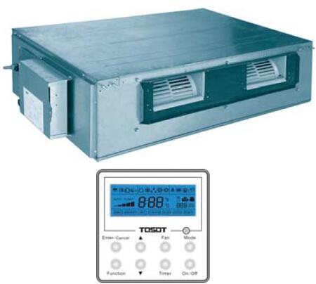 TU18HFI U-Match Slim Duct Indoor Unit with 17100 BTU Cooling and 18800 BTU Heating