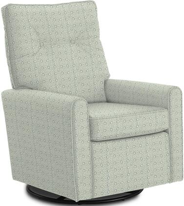 Phylicia Collection 4007-23041 Recliner with 360-Degrees Swivel Glider Metal Base  Removable Back  High Backrest  Zipper Access and Fabric Upholstery