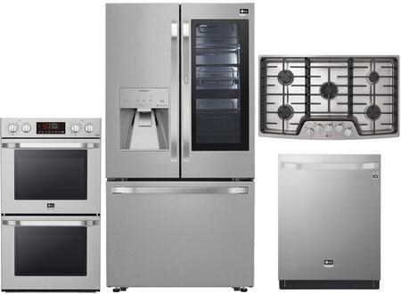 LG Studio  1375113 Kitchen Appliance Package Stainless Steel, Main image