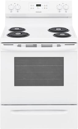 FFEF3016VW 30″ Freestanding Electric Range with 5.3 cu. ft. Capacity  Auto Shut-Off  Electronic Kitchen Timer  One-Touch Self Clean  Delay Clean