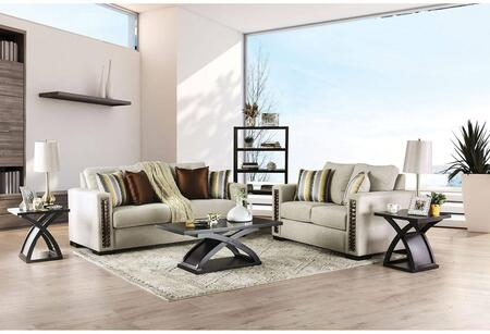 Furniture of America Chubbuck SM6421SFSET Living Room Set Beige, Living Room Set