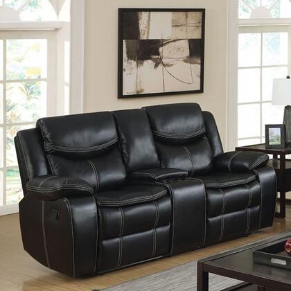 Furniture of America Gatria CM6981LVCT Loveseat Black, Main Image