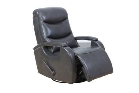 Fallon Collection 8-3338370692 Swivel Glider Recliner with Leather Features Distinctive Design and Individual Pocketed Coil Springs in Seat Cushion