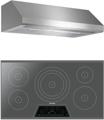 2 Piece Kitchen Appliances Package with CIT365KM 36″ Electric Induction Cooktop and HMWB36WS 36″ Wall Mount Convertible Hood in Stainless