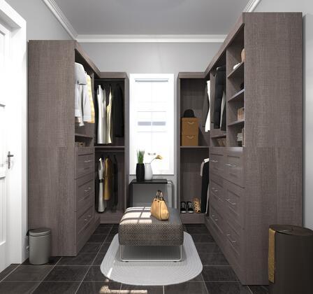 Bestar Furniture 2685847 Wardrobe, bestar pur murphy bed bark grey 26858 47 room