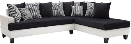 Glory Furniture Domino G220SC Sectional Sofa Black, 1