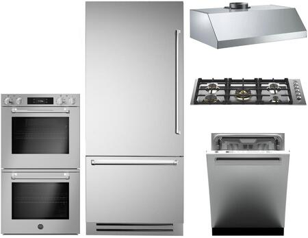 Bertazzoni  1096483 Kitchen Appliance Package Stainless Steel, Main image