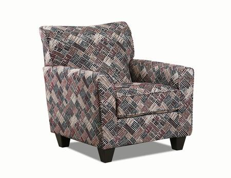 Lavish Collection 158-012LINUSPORT Accent Chair with Removable Seat Cushion  Sinuous Wire Spring Support System  Made in USA  Hardwood Lumbar